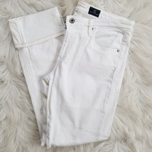 AG white ankle jeans - stretch - 29